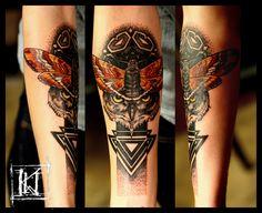 #tatuaz #tattoo #warszawa #warsaw #geometry #geometria #moth #cma #owl #sowa #dotwork #kropki #mandala #kwtattoo