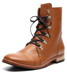 Zuriick Men's Henry Lace Up Boots. Amazing Mud color.
