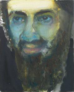 Marlene Dumas beeldt de beruchte terrorist Osama Bin Laden af als een normaal mens.