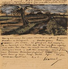 Vincent van Gogh (letters and drawings).