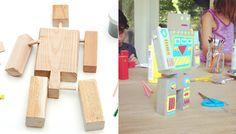 Reclaimed Wood DIY Robot Kit