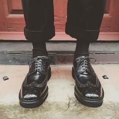Archie is back for the new season - but he's hi-shine and all black #grenson #grensons #grensonshoes #archie #black #wedge #hishine #leather #gtwo #mens #collections #aw15