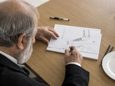 Image 5 of 20 from gallery of Portraits of Álvaro Siza by Fernando Guerra. Photograph by Fernando Guerra Portfolio Architect, Architect Career, Architect Sketchbook, Architect Logo, Architect Drawing, Architect House, Architecture Company, Architecture Life, Architects Quotes