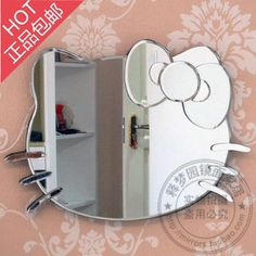 凯蒂猫Hello Kitty个性公主浴室镜化妆镜装饰镜梳妆镜包邮 M1370