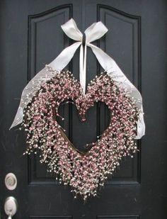 Valentine's Day Wreath - BFF Gift Wreath - Door Wreaths - Pink Heart Wreath - Large Decor Heart - Heart Decoration - Gifts for Women - Valentine's Wreath – The Friendship Wreath – Door Wreaths. via Etsy. Valentine Day Wreaths, Valentines Day Decorations, Christmas Wreaths, Valentine Heart, Homemade Valentines, Spring Wreaths, Valentine Ideas, Valentine Crafts, Front Door Decor