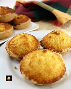 Coconut Tarts! Oh my goodness! If any of you have ever been for Dim Sum in a Chinese eatery or visited a Chinese bakery, you will have seen trays upon trays of these little tarts. They're very popular and if you've tried them before, you will know exactly what I mean! I always remember as a child going for Dim Sum in Hong Kong and waiting for the trolley to come my way and the lady pushing the trolley to shout out Custard Tarts. Then we could wave our hand in the air to indicate yes! ...