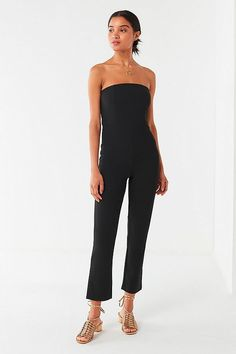ebe1e6333f4 Urban Outfitters Uo Sena Strapless Jumpsuit - Black S