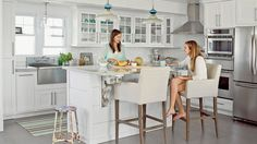 After: Welcoming Layout | Build your dream kitchen with inspiration from these beachy makeovers.
