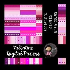 "Digital Papers (Valentine Digital Papers): Perfect for your Valentine's Day resources, products and/or activities.  Product Description:  Size: 12"" x 12"" square File Format: 300 dpi JPEG  ***************************************************************************** Please see my other clip art bundle and fonts: Winter Kiddies Bundle (Winter Kids Clip Art)Valentine Kiddies Bundle (Valentines Kids Clip Art)FONT FOR COMMERCIAL USE - Jewel Pastor JoeyFONT FOR COMMERCIAL USE - Jewel Pastor…"