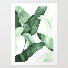 To Hang Above Desk? (set of 2) // Print of an original watercolor by Jessica Rowe inspired by the iconic Martinique wallpaper in the Beverly Hills Hotel