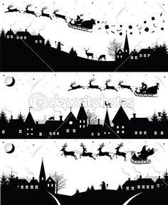 Weihnachten-Silhouetten — Stockillustration #14836207