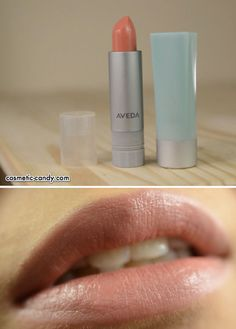 REALLY WANT IT :: LIPSTICK :: Aveda Nourish-Mint Sheer Mineral Lip Color in Melonchia Bloom (914-S) :: $16 | aveda.com :: A mint-scented, sheer finish lipstick w/ eco-friendly packaging (a refillable case form Aveda is $ 4, pictured on the right). Lovely soft texture & feels like a lip balm thus is quite hydrating. Results in a gloss finish w/ a nude peach shade. | #aveda #minerallipcolor #avedanourishmint #nourishment #nudelip #nudelipstick #cosmeticandy