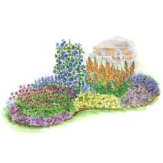 Annual Garden for Full Sun Enjoy a full season of continuous color for any sunny spot in your yard.
