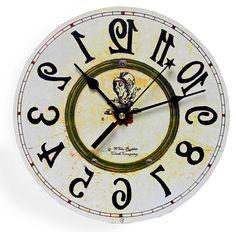 Rückwärts Uhr Alice im Wunderland-Dekor