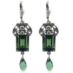 Jugendstil Ohrringe mit Swarovski Elements - Farbe Silber Emerald - Made in Germany nobel-schmuck http://www.amazon.de/dp/B002LFS73Y/ref=cm_sw_r_pi_dp_qpNTwb1KDVBZ0