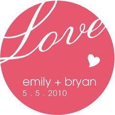 Printable File for DIY Lables or Tags - 2 inch or Choose size - Modern Love TX018CIPT. $10.00, via Etsy.