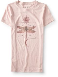 I'm definitely a sucker for anything with a dragonfly on it. The Free State Dragonfly Graphic T is a perfectly casual pick for any day. A dragonfly is printed over a few repeating triangles for a cool look, while sun and moon graphics add a bit of celestial style.    #dragonfly #fashion #affpin #lovethis #sopretty #graphicT