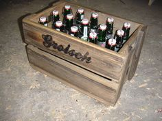 Picture of wooden beer crate