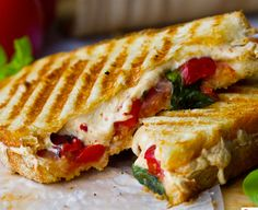 16 Swoon-Worthy Grilled Cheese Sandwiches that are Vegan:  Pepperjack Panini  This pepperjack panini with roasted bell peppers and basil is the fancy way to satisfy your grilled cheese craving. Make Pepperjack Grilled Cheese, recipe on Healthy. Happy. Life.