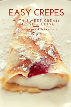 Easy Crepe Recipe, Crepe Recipes, Crepe Recipe For Two, Bisquick Crepe Recipe, Dessert Crepe Recipe, Crepe Suzette Recipe, Crepes Filling, Kitchen, Recipes