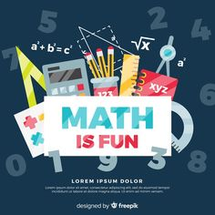 More than 3 millions free vectors, PSD, photos and free icons. Exclusive freebies and all graphic resources that you need for your projects Math For Kids, Fun Math, Math Wallpaper, Paris Wallpaper, Math Logo, Kids Background, Vector Background, Presentation Pictures, Signs