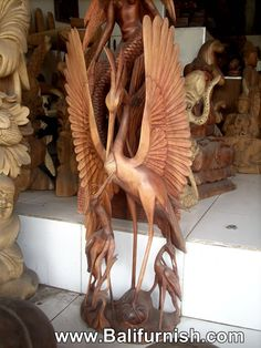 Wooden Birds Balinese Carvings