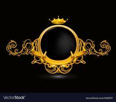 Vintage frame on black vector image on VectorStock Pop Art Drawing, Vintage Frames, Overlays Picsart, Framed Wallpaper, Photo Logo, Logo Concept, Background Pictures, Psychedelic Art, Wedding Humor