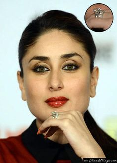 Chote Nawab of Pataudi, Saif Ali Khan didn't leave any stone unturned for diamond lover Kareena Kapoor Khan where the Nawab gifted his Begum a rock diamond solitaire platinum ring.