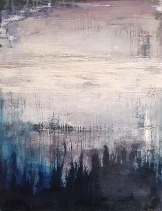 StateoftheART is pleased to offer the original painting, Abstract Expressionism, Abstract Art, Office Art, Living Room Art, Wood Paneling, Home Art, Mists, Dawn, Original Paintings