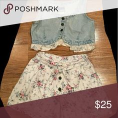 Vintage two shorts set Vintage and cute Other