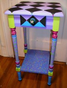 One Day I Will Have A Room With All Things That Remind Me Of Alice In.  Whimsical Painted FurnitureHand Painted ...