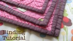 How to Finish a Quilt | Tutorial | Diary of a Quilter Baby Quilt Tutorials, Quilting Tutorials, Quilting Projects, Sewing Tutorials, Sewing Projects, Sewing Ideas, Quilting Ideas, Tutorial Sewing, Free Tutorials
