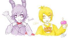Bonnie and Chica sketch by StarTheYoshi.deviantart.com on @deviantART
