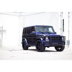 "ADV.1 Wheels: ""Blue on Blue Benz""   Mercedes G63"