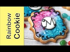Rainbow watercolour effect on cookie - Dessert Network Collaboration - YouTube