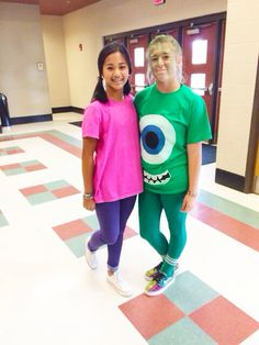 homecoming day 3 : dynamic duo (plus one) 👧😈😈 boo, sully, and ...