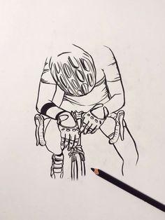 Desenho de um ciclista.