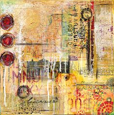 Items similar to Kelly Luna Original Art - Abstract Mixed Media Collage in Yellows and Reds - Vintage Ephemera, Book Paper, Painted Tag on Etsy Collage Art Mixed Media, Mixed Media Painting, Mixed Media Canvas, Kunstjournal Inspiration, Art Journal Inspiration, Vintage Ephemera, Art Journaling, Art Doodle, Original Art For Sale