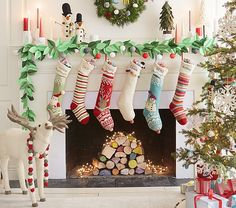 Merry & Bright Stockings | Pottery Barn Kids
