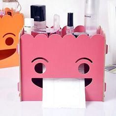 Organizatorii de birou din lemn cutie de bricolaj țesut cutie de depozitare produse cosmetice – USD $ 43.99