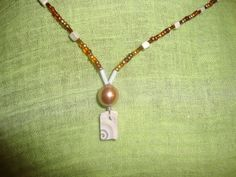 """Halskette """"Muschel-in-Muschel"""" Pearl Necklace, Jewelry, Shell Pendant, Clams, Neck Chain, Beads, Schmuck, String Of Pearls, Jewlery"""