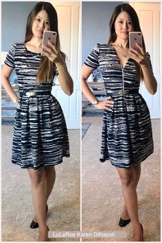 Wear the LuLaRoe Amelia dress backwards for a dramatic new look! Click on the image to see how I style LuLaRoe!
