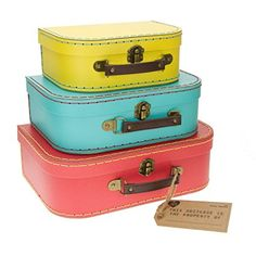 Sass and belle by RJB Stone - Valise, Trolley - Set de 3 valisettes Retro Flashy http://amzn.to/2jWv8zl