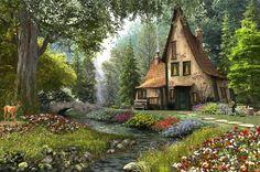 Staff Picks - Pixdaus | Toadstool cottage.... By: PictureGirl