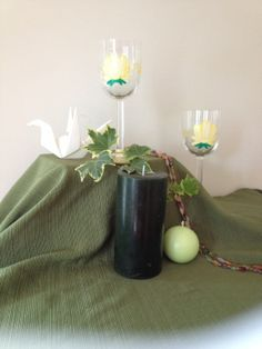 Lotus Wine Glasses by emyliastone on Etsy, $45.00