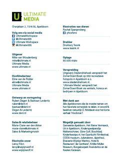 Colofon ZomerDoen!Boek Apeldoorn 2015