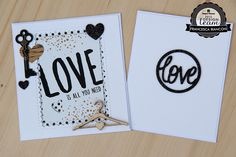 scrapbooking card - black and white