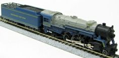Rivarossi N Scale Baltimore and Ohio 2-8-2 was marketed by Con-Cor.