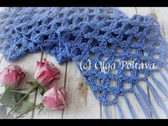 In this video tutorial I show how to crochet a beautiful lace scarf with clusters design, using one skein of Caron Simply Soft yarn and a hook size H mm). Crochet Prayer Shawls, Crochet Lace Scarf, Stitch Crochet, Crochet Baby Booties, Crochet Scarves, Free Crochet, Knit Crochet, Scarf Knit, Crochet Granny