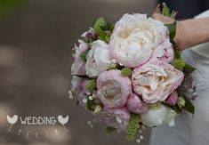 Brautstrauss mit Pfingstrosen und Maiglöckchen :: Bridal bouquet with peonies and lily of the valley
